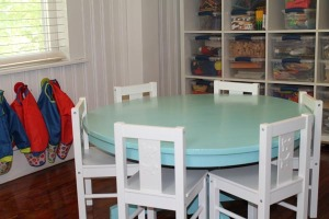 Art Room Table and Easle