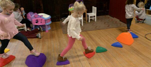 Preschoolers step